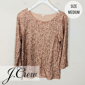 J. Crew | Rose Gold Sequined Blouse